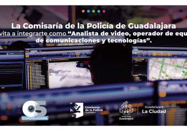 Lanza convocatoria la Policía de Guadalajara para la contratación de personal para el nuevo C5