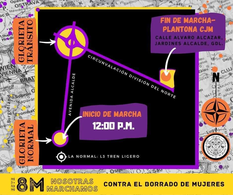 Agenda de eventos para conmemorar el día de la Mujer en Guadalajara