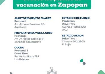 LA VACUNACIÓN ANTI COVID 19 EN ZAPOPAN, SERÁ POR ORDEN ALFABÉTICO