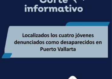 Fueron ya localizados los cuatro jóvenes que en Puerto Vallarta se reportaron desaparecidos