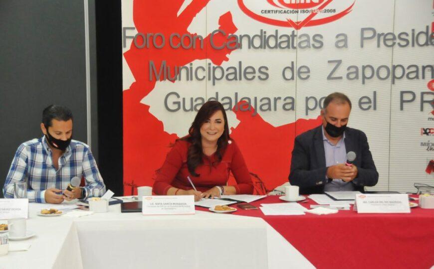 Sofía García se comprometió con la CMIC a desarrollar programas para reactivar el Centro Histórico y redensificar Guadalajara