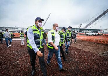 Visita el Gobernador Enrique Alfaro las obras de ampliación del Aeropuerto Internacional de Guadalajara