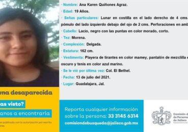 Investiga la Fiscalía del Estado la desaparición de  Ana Karen