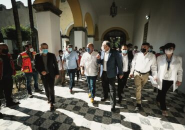Entrega Enrique Alfaro primera etapa de obras de renovación del Hospital Civil Fray Antonio Alcalde