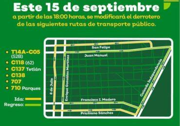 Pide el Gobierno de Jalisco permanecer en casa  y no asistir a las plazas públicas este 15 de septiembre