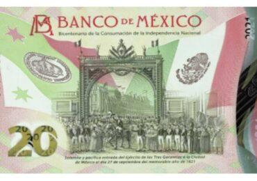 Así es el nuevo billete de 20 pesos conmemorativo en México